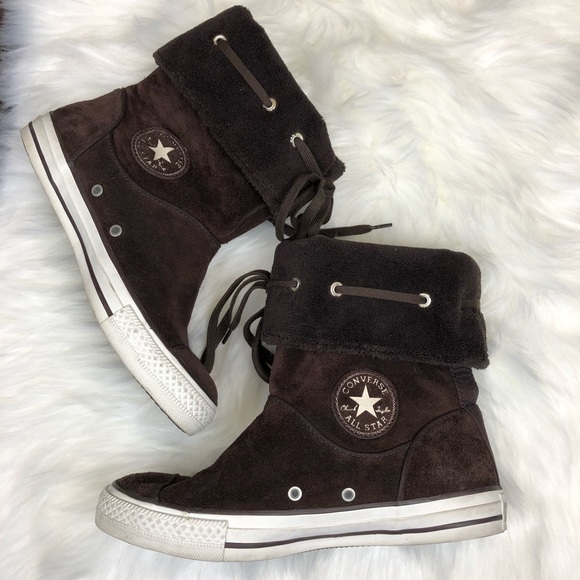 1d9558ae60142f Converse Shoes - Converse Andover Brown Suede Boots sz 9